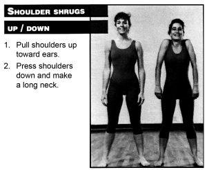 Shoulder shrugs up and down