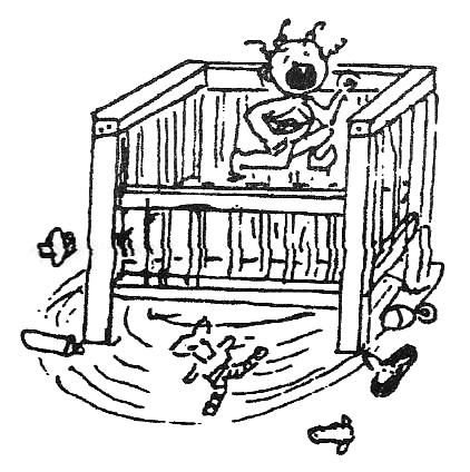 Child Playpen - drawing by Bonnie Prudden