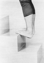 Feet In Out Stretch on Stairs