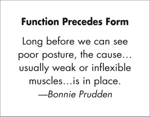 Function Precedes Form quote from Bonnie Prudden