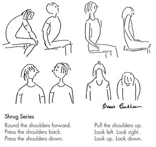 Shrug Series - drawing by Bonnie Prudden