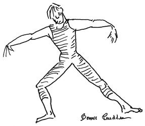 Warm-ups artwork 4 - drawing by Bonnie Prudden