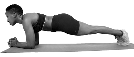 Athletic-woman-doing-plank-exercise.focusfitness.B&W