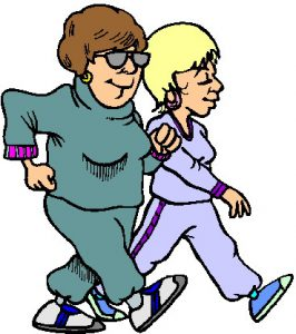 Two Gals Walking