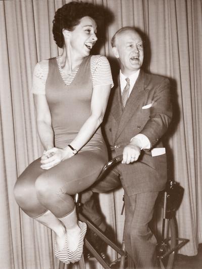 Bonnie Prudden and Kaare Rodahl