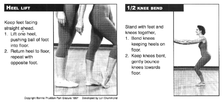 Heel Lift and Half Knee Bend Exercises